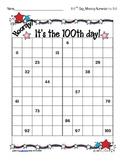 100 days of school missing numerals