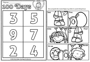 100 days of school picture sort