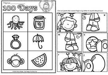 100 days of school picture sort