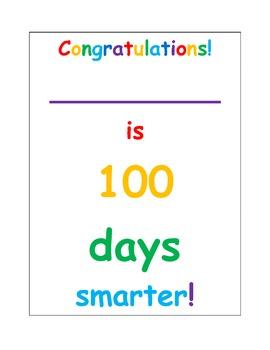 Back to school 100 days of school smarter!