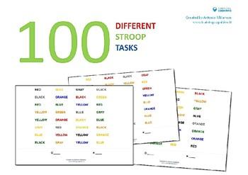 100 different Stroop tasks
