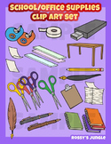 School or office supplies clip art set
