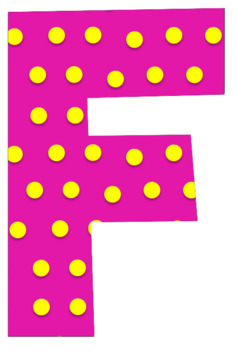 Alphabet, Numbers and Symbols (Polka Dots) 100 images