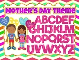 100 images of Pink Mother's Day Theme Alphabet, Numbers an