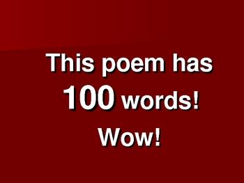 100 is a Lot Poem Presentation