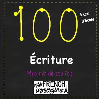 100 jours d'école - Écriture