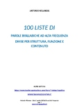 100 liste di parole bisillabiche ad af divise per struttur