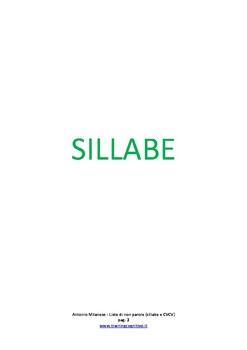 100+ liste di sillabe e non parole CVCV con target in posizione iniziale (.doc)