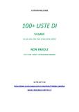 100+ liste di sillabe e non parole CVCV con target in posi