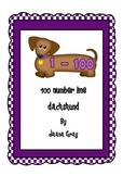 100 number line dachshund