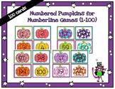 100 numbered pumpkin cards