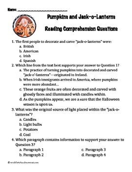 100+ pgs. Fall Reading Comprehension Pack - NO PREP - Common Core Aligned