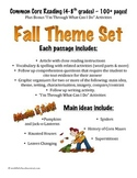 100+ pgs. Fall Reading Comprehension Pack - NO PREP - Comm