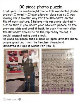 100 piece puzzle project