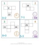 1st Grade & 2nd Grade Math Calendar - 100 chart, time, eve