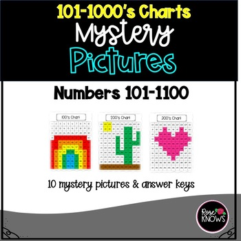 100's-1000's Chart Mystery Picture Pack 2