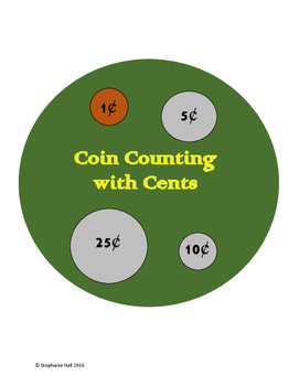 100's Chart Coin Counting by cents