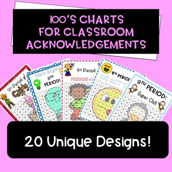 Hundreds Chart  (For Tracking/Awards/Acknowledgments) Bundle