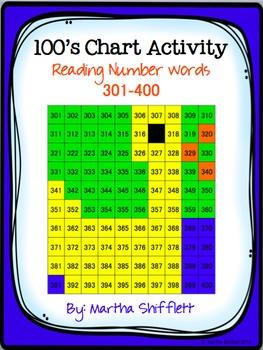 100's Chart Hidden Duck Picture Activity Reading Number Words 301-400