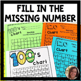 100s Chart Worksheets   Fill in the Missing Numbers   Hundreds Chart