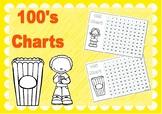 100's Chart Popcorn B&W