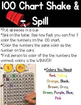 100's Chart Shake & Spill!