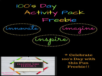 100's Day Activity Pack Freebie