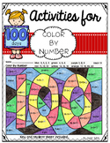 100's Day Color By Number