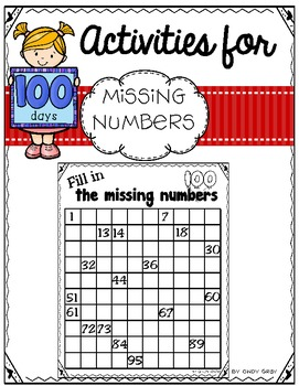 100's Day ~ Fill in Missing Number