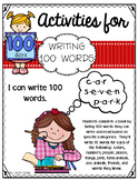 100's Day I Can Write 100 Words