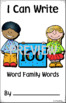 100's Day I Can Write 100 Word Family Words