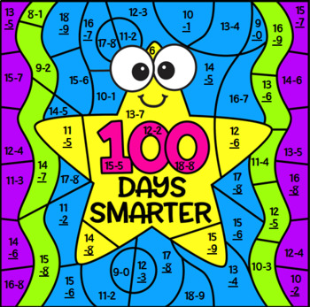 100's Day Mystery Picture ~ Subtraction to 20
