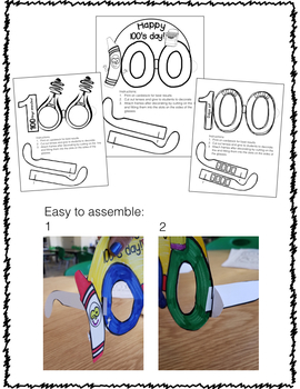 100's Day Necklaces and Glasses Sets
