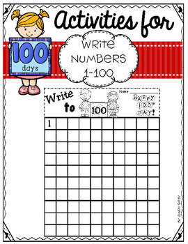 100's Day Write Numbers 1-100