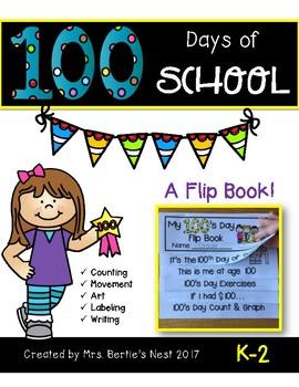 100's Day in School Flip Book