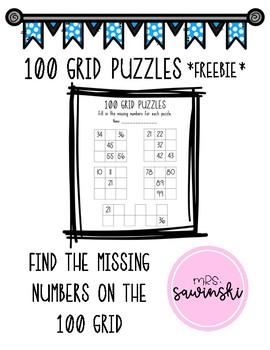 100's Grid Puzzles