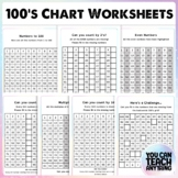 100's Chart Activities Numbers to 100 Skip Counting 2s 5s