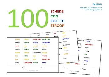 100 schede con effetto stroop