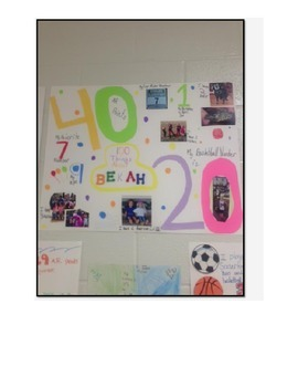 100 th Day of School Math Poster Project