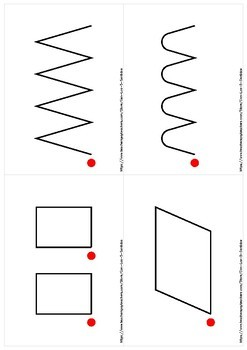 100 tracing cards / 100 fichas de trazo