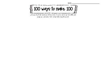 100 ways to make 100