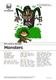 Narrative Writing Activity: 100 vocabulary words about Monsters