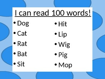 100 words for the 100th day