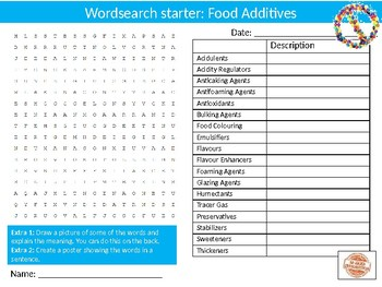 100 x Food Nutrition Wordsearches Keyword Settlers Wordsearch Cover Homework