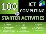 100 x ICT Computing Starter Activities Wordsearch Starters