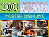 100 x Motivational Famous Quotes Posters for Classroom Display or Handouts