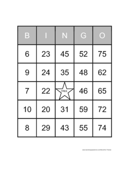 1000 Bingo Cards
