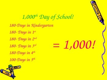 1,000 Day of School PowerPoint