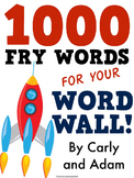 1,000 FRY WORDS: WORD WALL