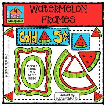 1000 Followers DAY 1 FREEBIE Watermelon Frames {P4 Clips Trioriginals}
